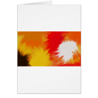 Bright splash of paint. greeting card