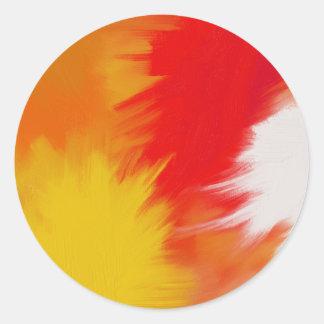 Bright splash of paint. classic round sticker