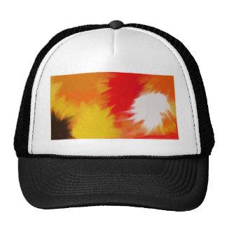 Bright splash of paint. trucker hat