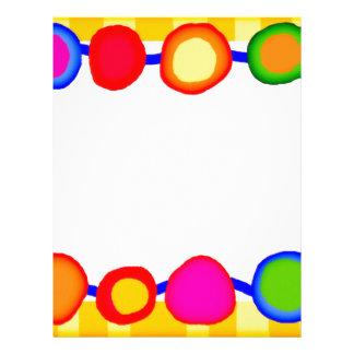 Bright spots dots colorful letterhead