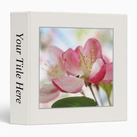 Bright Spring Apple Blossoms 3 Ring Binder
