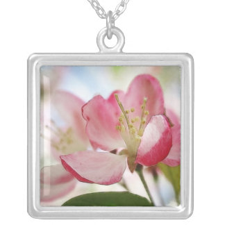 Bright Spring Apple Blossoms Necklace