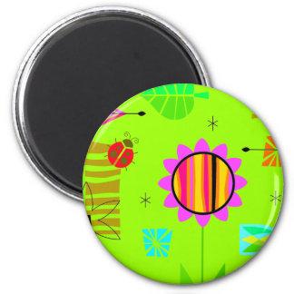 Bright Springy Pattern Fridge Magnet