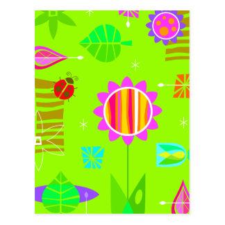 Bright Springy Pattern Postcard