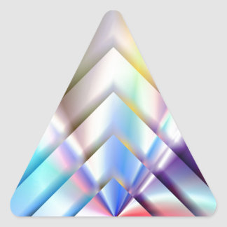 Bright Squares Triangle Sticker