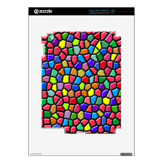 Bright Stained Glass Look Cell Phone Case iPad 2 Skins