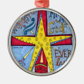Bright Star above the Stable Metal Ornament