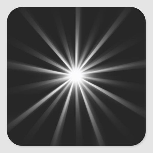 bright star in dark space stickers