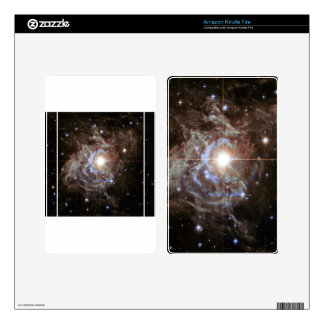 Bright Star in Star Cluster Decal For Kindle Fire
