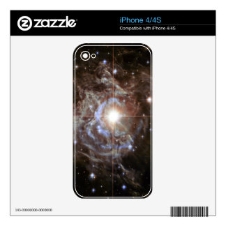 Bright Star in Star Cluster Skin For iPhone 4S