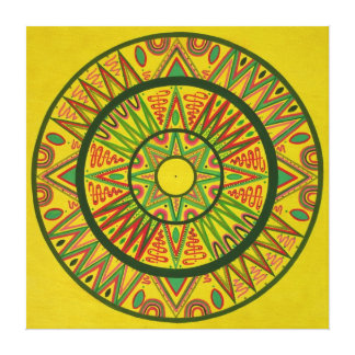 Bright star Mandala Canvas Print
