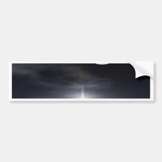 Bright star over a reflective snow covered cloud bumper sticker