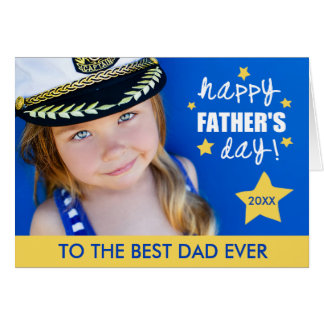 Bright Stars Father's Day Photo Greeting Card