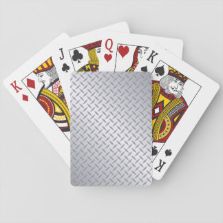 Bright Steel Diamond Plate Background Deck Of Cards