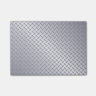 Bright Steel Diamond Plate Background Post-it Notes