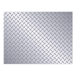 Bright Steel Diamond Plate Background Postcard