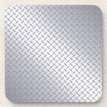 Bright Steel Diamond Plate Beverage Coaster