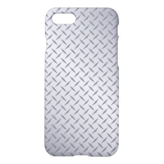 Bright Steel Diamond Plate Look iPhone 8/7 Case