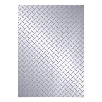 Bright Steel Diamond Plate Look Magnetic Invitations