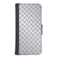 Bright Steel Diamond Plate Phone Wallet Case