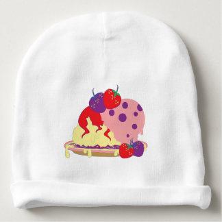 Bright Strawberries And Ice Cream Art Baby Beanie
