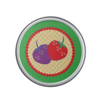 Bright Strawberry Cream Pie Art Speaker