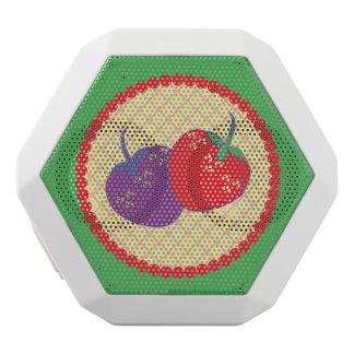 Bright Strawberry Cream Pie Art White Bluetooth Speaker