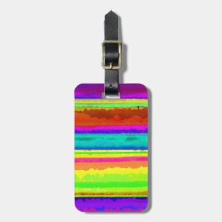 Bright Stripe Bag Tag