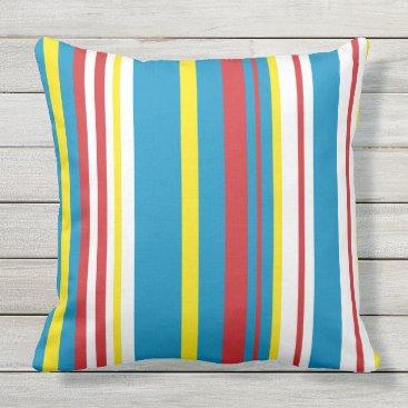 Bright striped cotton pillow