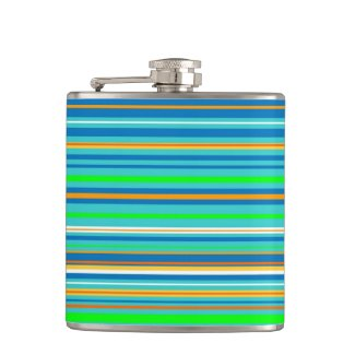 Bright Stripes Hip Flask