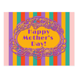 Bright Stripes Mothers Day Card