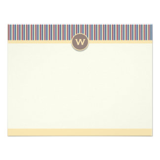 Bright Stripes Note Cards Custom Invites