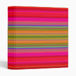 Bright Stripes Vinyl Binder