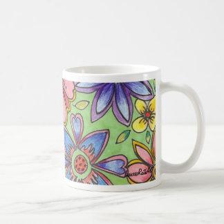 Bright Stylized Flower Mug