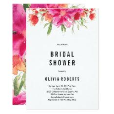 Bright Summer Bridal Shower Invitation at Zazzle