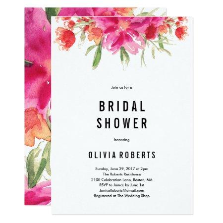 Bright Summer Bridal Shower Invitation