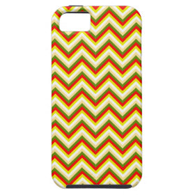 Bright Summer Chevron Zigzag Stripes Yellow Orange iPhone 5 Case