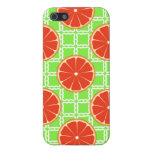 Bright Summer Citrus Grapefruits on Green Squares Cases For iPhone 5