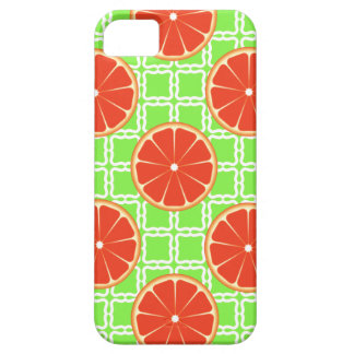 Bright Summer Citrus Grapefruits on Green Squares iPhone SE/5/5s Case