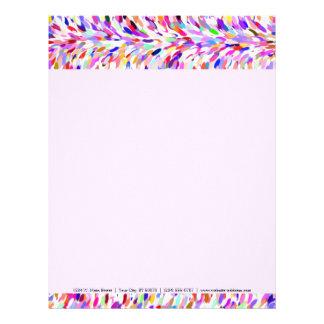 Bright Summer Colors Paint Splatter Pattern Letterhead