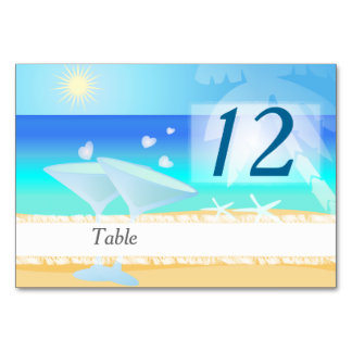 Bright summer day by the beach card