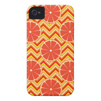 Bright Summer Grapefruit on Orange Yellow Chevron iPhone 4 Cover