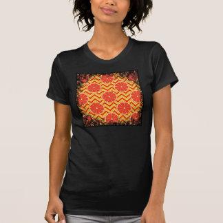 Bright Summer Grapefruit on Orange Yellow Chevron T-Shirt