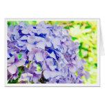 Bright Summer Hydrangea Stationery Note Card