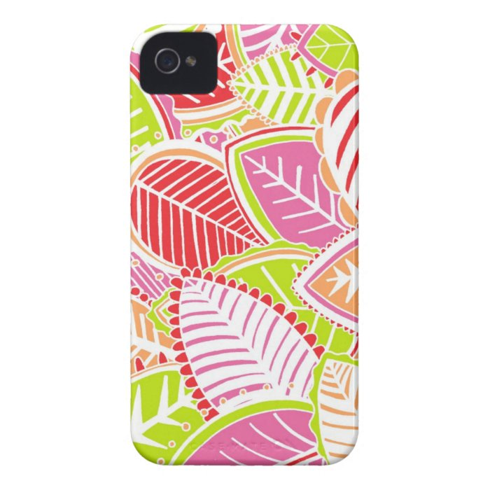 Bright Summer Leaves iPhone 4 Case