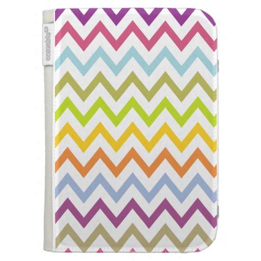 Bright Summer Pastel Chevron Pattern Kindle Case