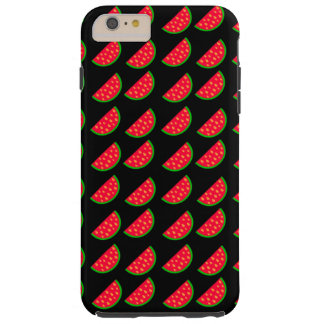 Bright Summer Picnic Watermelons on black backgrou Tough iPhone 6 Plus Case
