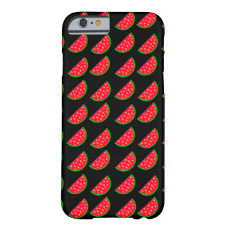 Bright Summer Picnic Watermelons on black backgrou Barely There iPhone 6 Case