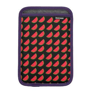 Bright Summer Picnic Watermelons on black backgrou iPad Mini Sleeve