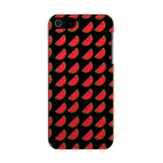 Bright Summer Picnic Watermelons on black backgrou Incipio Feather® Shine iPhone 5 Case